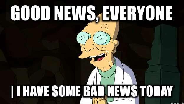 Η αγορά δε θέλει καλά νέα...